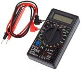 Digitale Multimeter DT-830B Multimeter - Spanningsmeter / Stroommeting - Diodetest - Weerstandsmeting - Transistormeting hFE - Cat 1 - inclusief 9V batterij