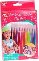 Playgo Air Brush Tattoo Markers, 10st.