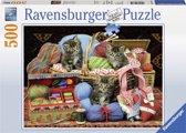 Ravensburger puzzel Pluizig genot - legpuzzel - 500 stukjes