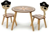 Momo for Kids Kindertafel ''Piraat'' - Set incl. 2 stoelen
