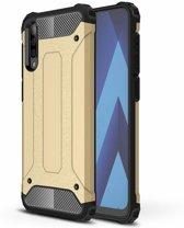 Ntech Samsung Galaxy A50 Hybrid Armor Hoesje - Goud