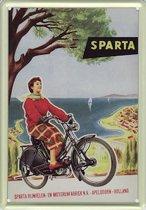 Sparta reclame Rijwielen reclamebord 10x15 cm
