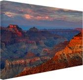 FotoCadeau.nl - Mather Point zonsondergang Grand Canyon Canvas 30x20 cm - Foto print op Canvas schilderij (Wanddecoratie)