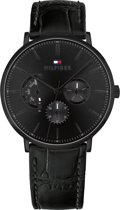 Tommy Hilfiger TH1710378 Horloge - Leer - Zwart - Ø 40 mm