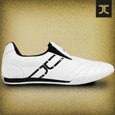 Lichtgewicht taekwondoschoenen JC | wit-zwart | maat 46