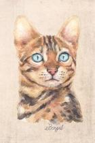 Bengal Cat Portrait Notebook: Blank Lined Journal for Cat Lovers, Cat Mom, Cat Dad and Pet Owners - 6x9 with College Ruled Pages