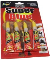 4 X Superlijm , super glue  extra strong 3 gram per tube