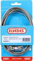 Elvedes Remkabel Set Voor Trommelrem 1350/1000 Mm Grijs/zilver