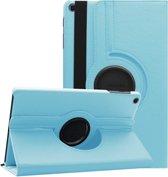Samsung Galaxy Tab A 10.1 2019 SM T510 / T515 Draaibaar Hoesje met stylus pen Multi stand Case - Licht blauw