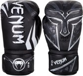 Venum Gladiator Boxing Gloves - Black White-12 oz.