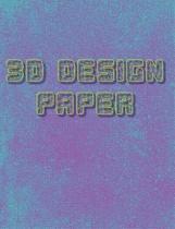 3D Design Paper Notebook