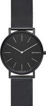 Skagen Signatur horloge  - Zwart