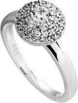 Diamonfire - Zilveren ring met steen Maat 18.5 - Pav' bol