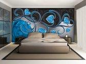 Fotobehang Art | Blauw | 208x146cm