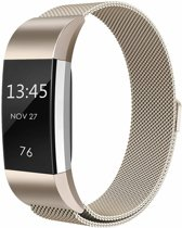 123Watches.nl Fitbit charge 2 milanese band - champagne - SM