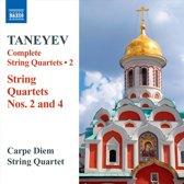 Taneyev: String Quartets 2