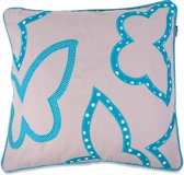In The Mood Sierkussen Contour Butterfly - 50x50 cm - Aqua