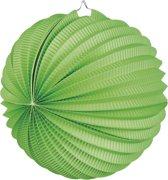24 stuks: Papieren ballonlampion - groen - 23cm