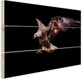 Adelaar donker Hout 60x40 cm - Foto print op Hout (Wanddecoratie)
