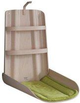 Opklapbare houten design babyverschoontafel Natuur