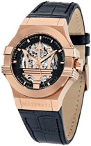 Maserati Potenza - R8821108002 - horloge -  automaat - rosékleurig - leer - zwart - 42mm