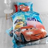 Disney Cars Rally 7 Flanel - Dekbedovertrek - Eenpersoons - 140x200 + 1 kussensloop - Rood