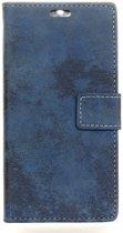 Shop4 - HTC U Play Hoesje - Wallet Case Vintage Blauw