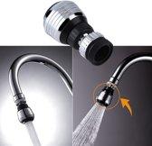 360 Graden Roterende Kraankop – Keukenkraan – Waterbesparend – Roterende Kraankop – Spoelbak – Wasbak – Waterdruk – Tap Beluchter– 2 Standen - RVS