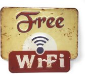 Free WIFI Bordjes Metaal Wifi Bord Bar Woondecoratie