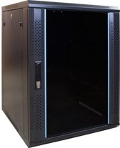 """Alfaco 19-6415, 15U, 19"""" Serverkast/Patchkast met glazen voordeur, (BxDxH) 600x450x769mm"""