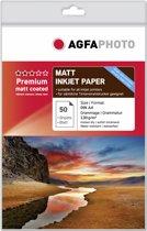 AgfaPhoto AP13050A4M papier voor inkjetprinter A4 (210x297 mm) Mat Rood, Wit