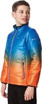 Regatta Icebound IV Jas Kinderen oranje/blauw Kindermaat EU 128 / 7-8 jaar