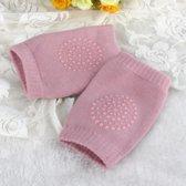 Kinder - baby kniebeschermers - Lichtroze - Zachte knie Kruip Beschermers - Tegen blauwe plekken - Tegen schaafwonden
