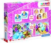 Clementoni - Super kit puzzel en spellen 4in1 - Disney Princess