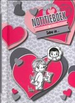 InterStat Notitieboek Liefde is 21,5x16 cm - Roze
