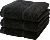 Aquanova Handdoek set/3 ADAGIO kleur black-09 (55x100cm)