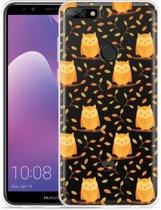 Huawei Y7 2018 Hoesje Cute Owls