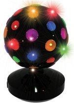 PartyFunLights Discolamp - roterend - Zwart met multicolor - 20 cm
