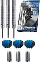Harrows - Supergrip 90% Tungsten met 9 - dartshafts - en 9 - dartflights - 23 gram - dartpijlen