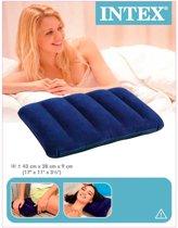 Intex Opblaasbare Kussen   Inflatable Travel Pillow   Reis Kussen   Reiskussen   Reizen   Opblaasbaar   Kamperen   43 x 28 x 9 cm