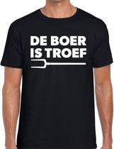 Zwarte Cross de boer is troef t-shirt - zwart Achterhoek festival shirt voor heren - zwarte cross S