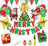 Leuke Kerst Feestpakket - Kerstversiering - Kerst decoratie voor binnen - Confetti - Ballonnen - Doe het zelf - Kerstman - Kerstpakket - Merry Christmas