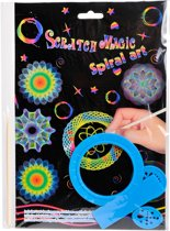 Magic Color Scratch' met spiralen 19x28cm ass