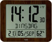 Fysic FKW-2600 - Datumaanduiding - Thermometer - Hygrometer - Houtlook
