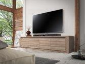 Meubella - TV-Meubel Monaco - Truffel eiken - 4 deuren - 170 cm