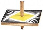 Moses Houten Tol Met Optische Illusie 5 Cm Geel/zwart