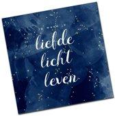 Christelijke Minikaart Kerst - Liefde, Licht, Leven - DagelijkseBroodkruimels