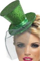 Groen glitter hoedje