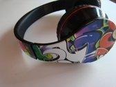 Media-Tech Stereo hoofdtelefoon in GRAFITTI ontwerp met microfoon