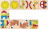 Domino: MIJN EERSTE DOMINO 10x5cm, 28 domino's, hout, 2+